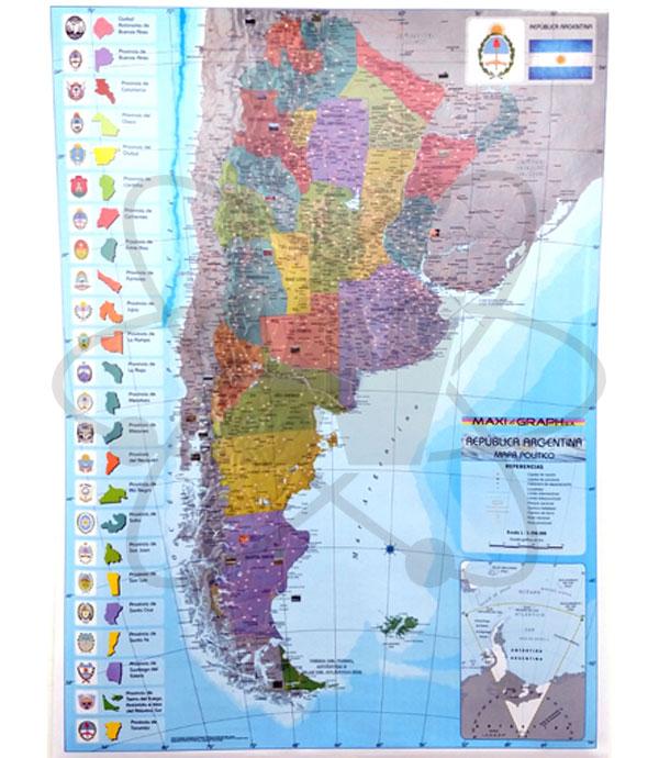 Mapa Rep Argentina Politico Se Francisco H Walz S C A